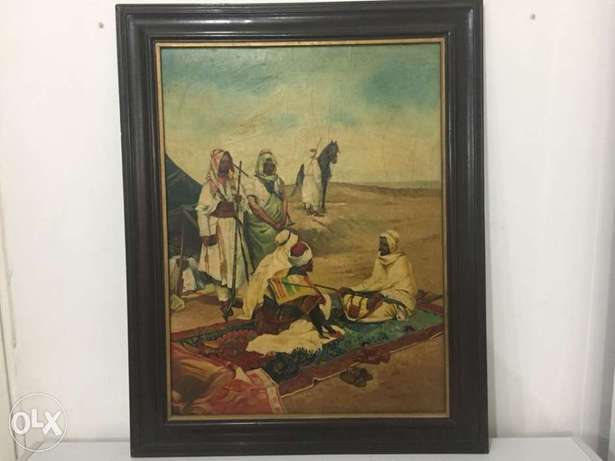 late 19th century orientalist oil on canvas