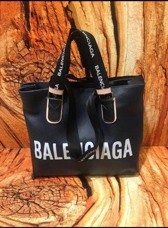 Torebka duża Balenciaga Torba Czarna skórzana Premium Radom