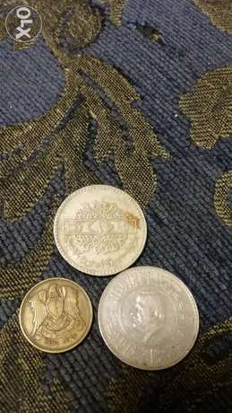 3 Syrian Coins 2 Liras and 25 piasters