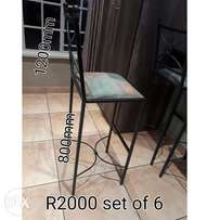 Steel High Chair - set of 6