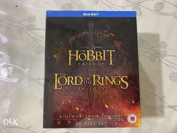 Lord of the rings and Hobbit trilogy blu ray