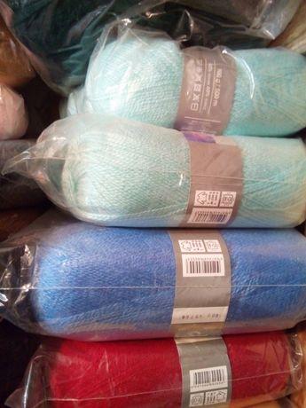 пряжа нитки для вязания Angora Ram мохер 55 грн поделки