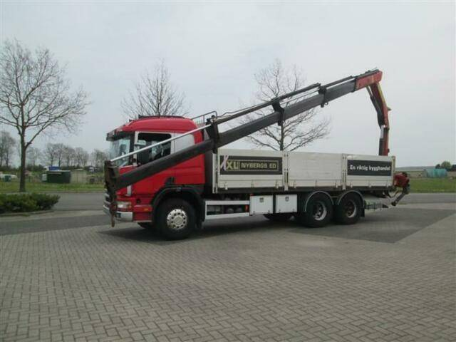 Scania P124.360 6X2 PALFINGER PK14080 MANUAL FULL STEEL - 1997