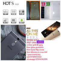 Infinix Hot S x521 with free glass protector and back case