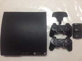 PS3 with games and driving controlling kit, cooler pad, BT keypad