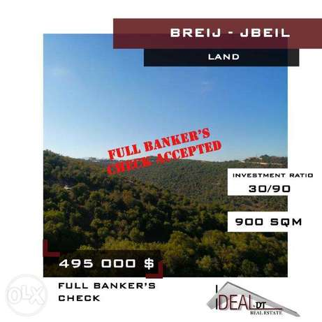One time offer. A 900 SQM LAND in Breij. REF#CD10026