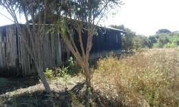 1/2 acre with asemi permanent 2bedrooms house