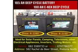 100 AH E-Nex Deep Cycle Battery = R2150