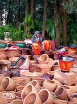 Flower vessels, and pots