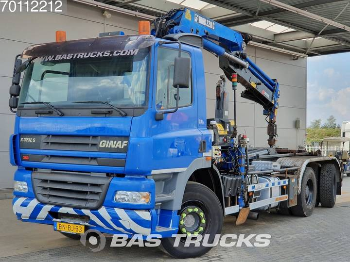 Ginaf X 3232 S 6X4 Manual Big-Axle Euro 3 Hiab 220-3 - 2002