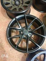 18nch 5×112 Mercedes Benz rims matte black