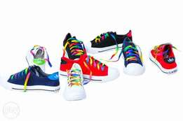 Colourful rubber shoes