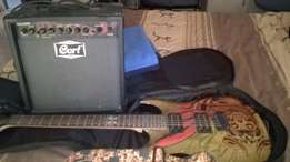 Cort Graphic Guitar with Amp-as new