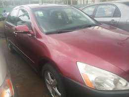 Neat registered 05 honda accord end of discussion 4 sale at good prize