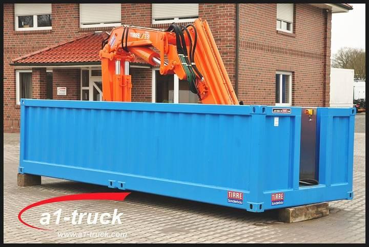 Abl Container mit Ladekran Tirre 331 Funk, unbenutzt.... - 2016