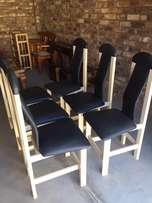 Dining room chairs x 6.