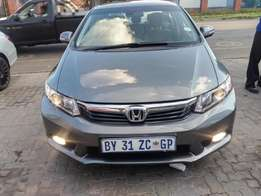 2012 Honda Civic 1.8 in good condition for R 140000.00