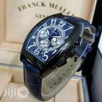 Franck Muller Geneve Chronograph Leather Wristwatch
