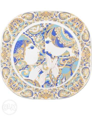 Rosenthal christmas plates for decorativeصحون روزنتال لأعياد الميلاد