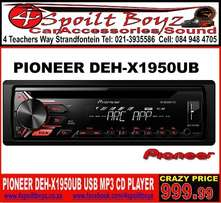 Pioneer DEH-X1950UB Mp3 with USB CD Front Loader