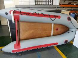 3 man rubber boat with 2hp motor