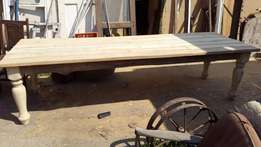Retro Dinning Room Table - double thick turned legs
