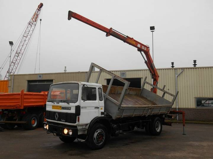 Renault G230 Kipper + Hiab Crane Good Condition - 1988