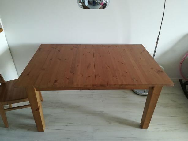 Drewno Stol Kuchenny Ikea Stornas Jak Nowy Rozkladany 147 204x95 Cm