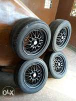 "Rim with tyres ""16"" universal"