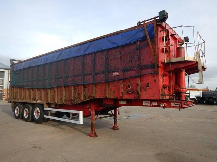70 cu-yd steel tipping trailer - 2009 - c296218 tipper - 2009