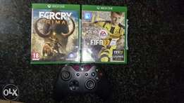 Xbox one remote and games