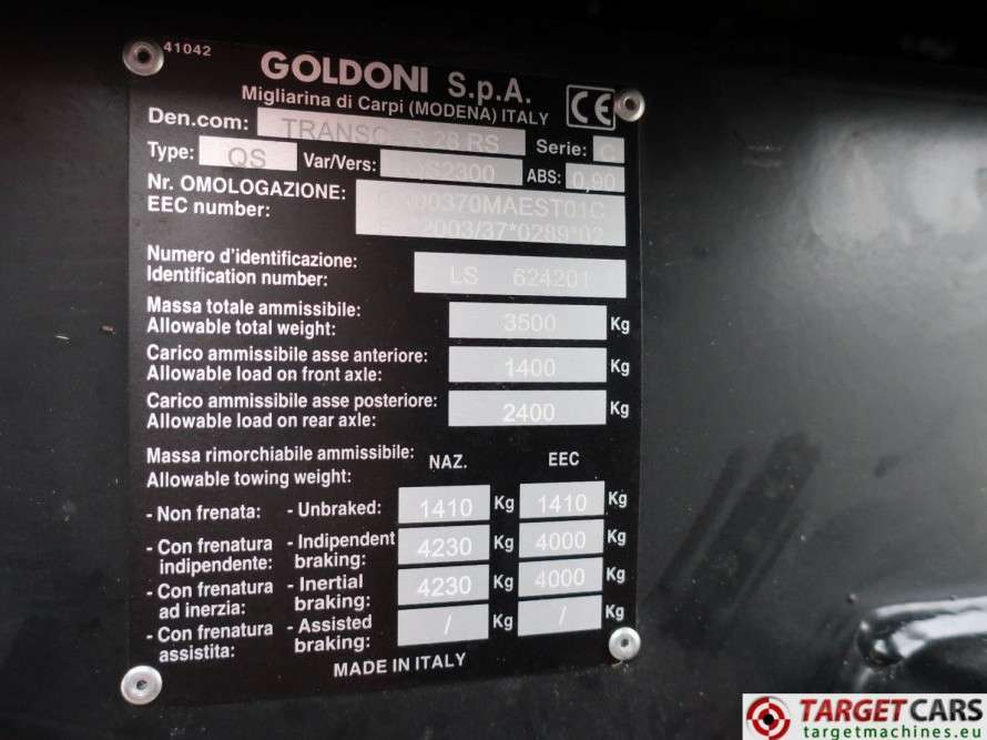 Goldoni Transcar 28RS Utility 4WD Tipper 3-Way Dumper NEW - image 10