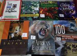 Coffee table books in excellent conditions for sale