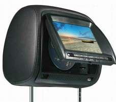 Black headrest monitors with dvd player and flash .
