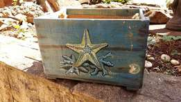 Nautical Crate Lined with Hessian