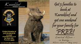 Fantastic Specials Kareekloof Game Farm