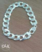 10mm genuine silver bracelet