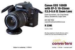 Canon EOS 1000D with EF-S 18-55mm f:3.5-5.6 IS Zoom Lens