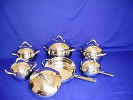 12 Piece 18/10 Stainless Steel Cookware Set