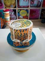 Ankara cake for ladies