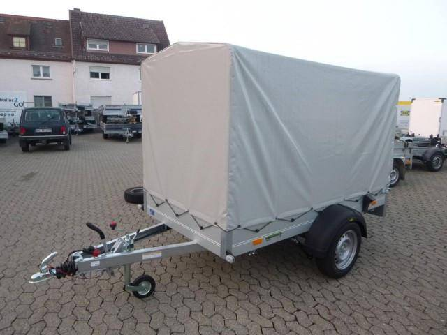 Humbaur Startrailer H132513 Alu mit Hochplane 150 cm, 251x131x30cm