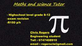 Tutor for Maths and science