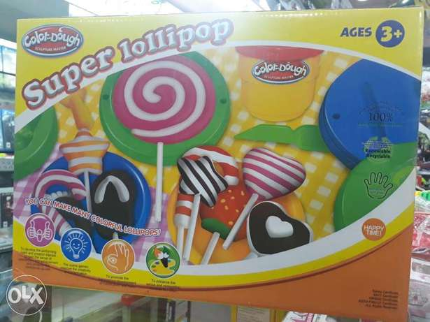 Super lollipop colour dough