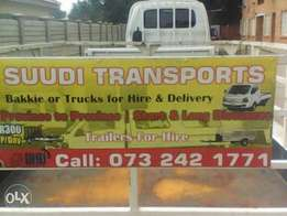 Suudi transport & trailors for hire