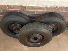Tyres on rims 10 inch