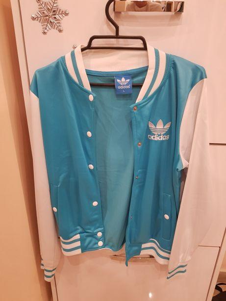 Bluza damska Adidas S M dres biało niebieska miętowa morska