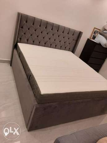 New king size bed with matress contact WhatsApp