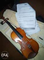 Learn how to play the violin and read music score