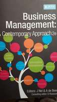 Business Management a contemporary approach 2nd edition