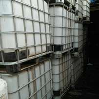 Water tanks.